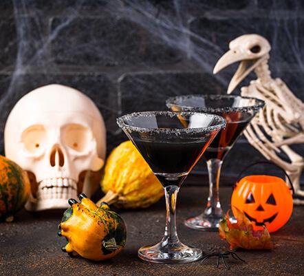Martini avec crème de cassis pour Halloween - Enoteca Divino