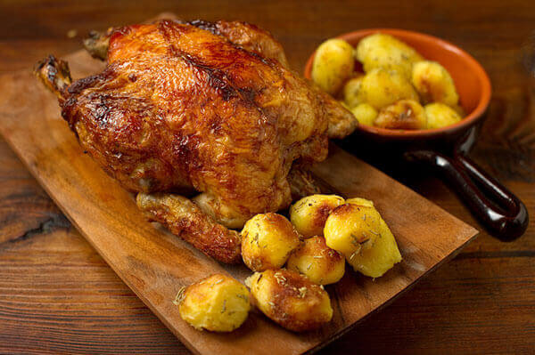 Recette de poulet rôti et pommes de terre - Enoteca Divino