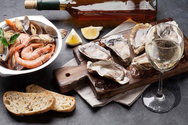 Accompagnement vin plateau de fruits de mer - Enoteca Divino